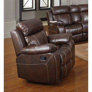 Kist Marvelous Glider Recliner with Pillow Arms by Alcott Hill