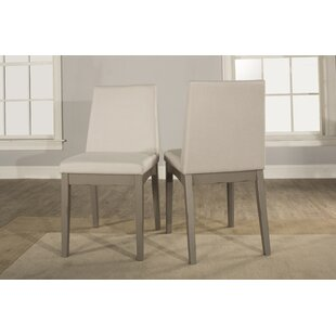 Kinsey Upholstered Dining Chair (Set of 2) Rosecliff Heights