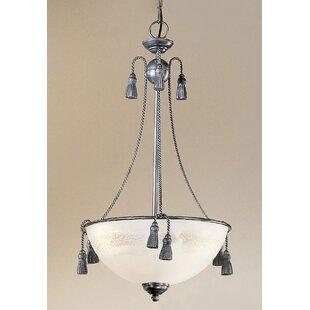 Classic Lighting Rope and Tassel 3-Light Bowl Pendant