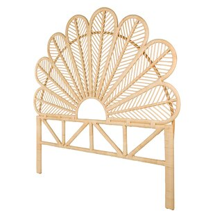 Hirst Rattan Petal Open Frame Headboard by Bungalow Rose