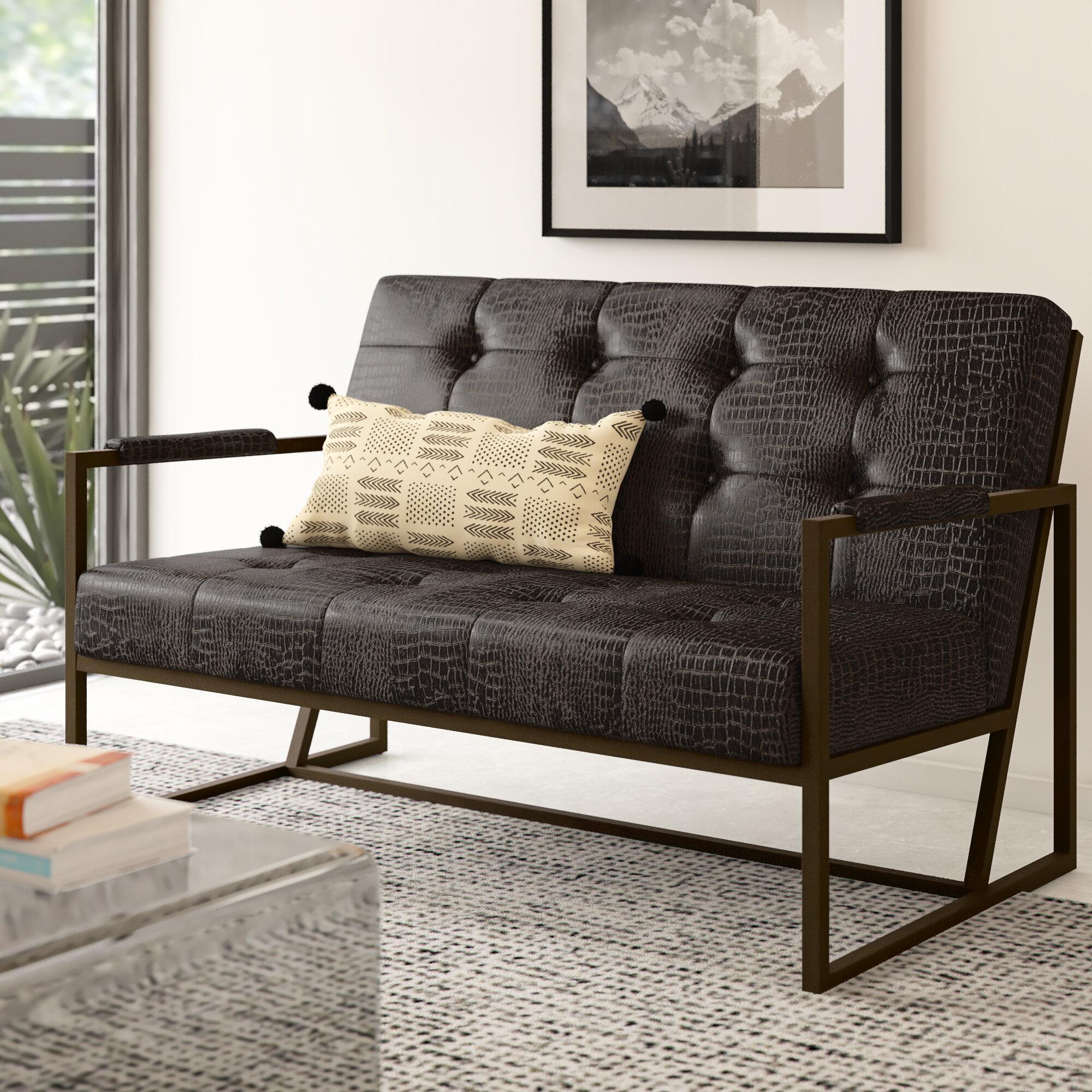 Groovy Blakely Vegan Leather Loveseat Customarchery Wood Chair Design Ideas Customarcherynet