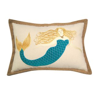 I Sea Life Sirens Wear Turquoise Mermaid Lumbar Pillow