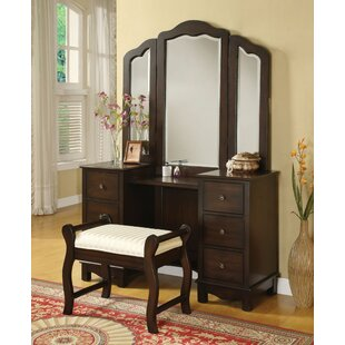 Fairford Vanity Set with Mirror by Canora Grey