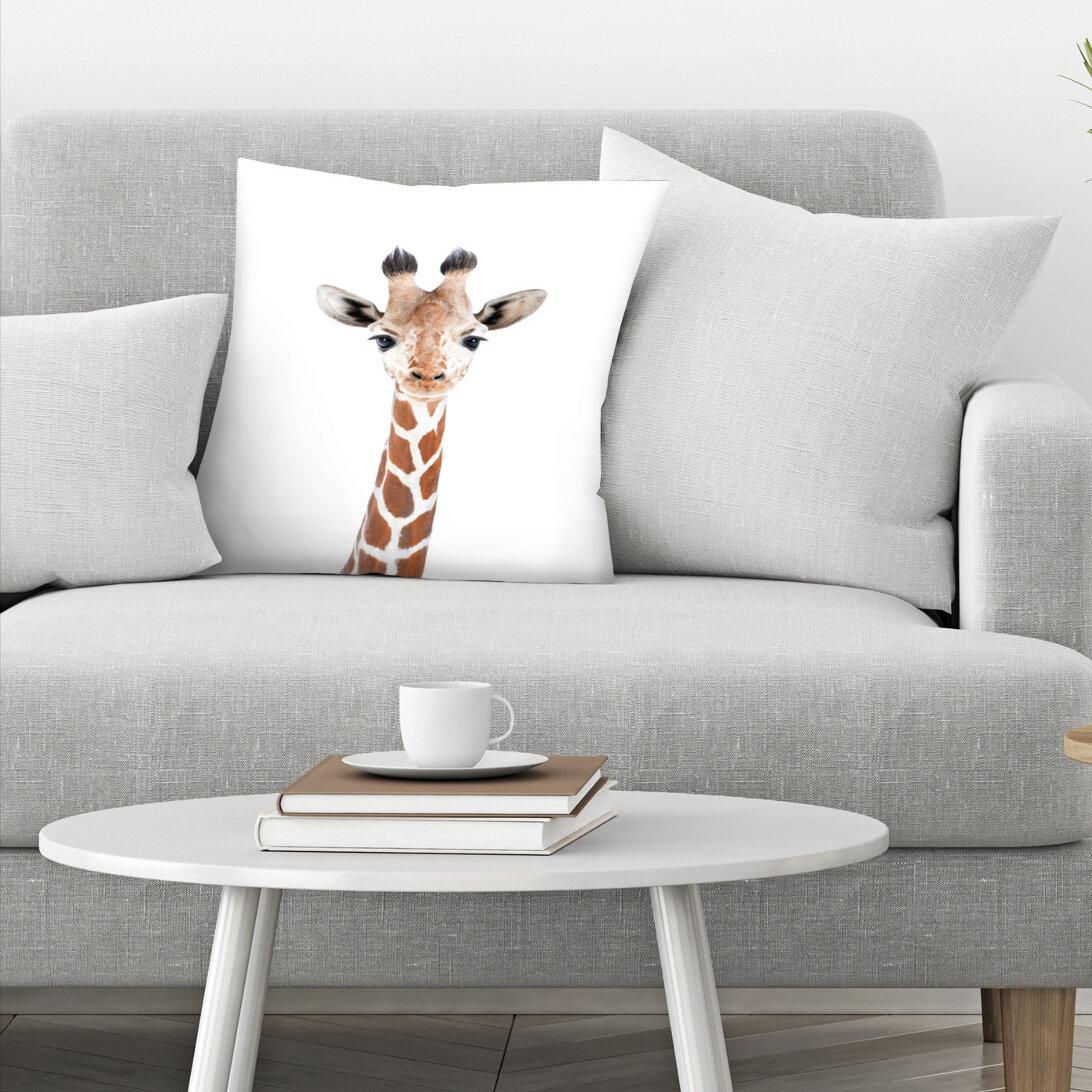 East Urban Home Baby Giraffe Throw Pillow Wayfair