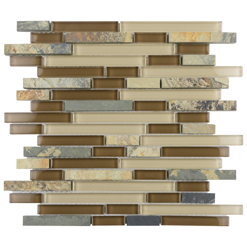 Elitetile Sierra Random Sized Glass Linear Mosaic Tile Reviews Wayfair