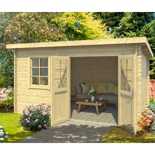 Beal 12.8 X 9.8 Ft. Tongue & Groove Summer House By Sol 72 Outdoor