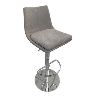 Elco Adjustable Height Swivel Bar Stool by Latitude Run