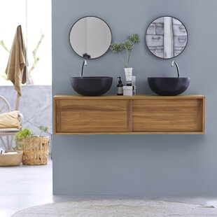 Basic 140cm Wall Mounted Vanity Unit Base Only By Tikamoon