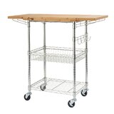 Expandable Surface Kitchen Cart by Trinity