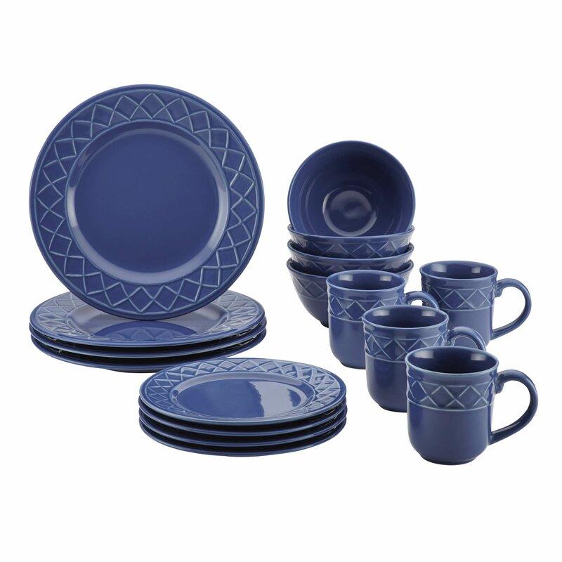 Paula Deen 16 Piece Dinnerware Set Service For 4