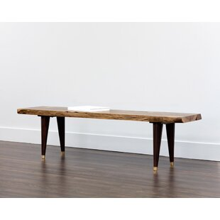 Sunpan Modern Atlas Wood Bench