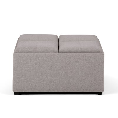 Agnon Storage Ottoman Upholstery Color: Cloud Gray by Alcott Hill
