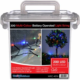 Outdoor Battery-Operated Multi-Function 200 LED String Light By The Seasonal Aisle