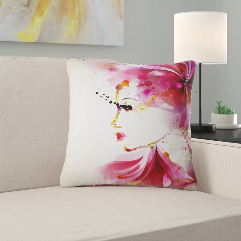 East Urban Home Abstract Fashion Woman With Abstract Hair Pillow Wayfair