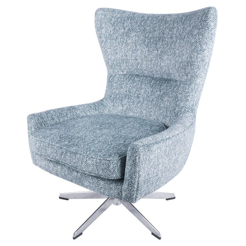 Astounding Jamie Swivel Wingback Chair Cjindustries Chair Design For Home Cjindustriesco