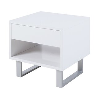 Sylwia End Table with Storage ..