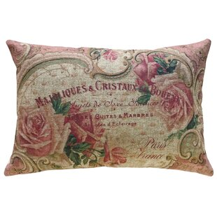 Kinley French Roses Linen Throw Pillow