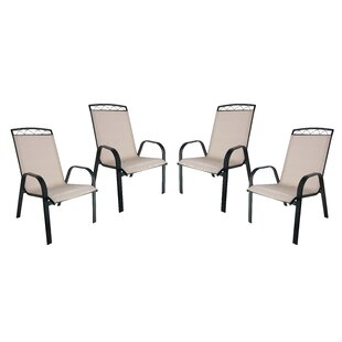 Mallery Sling Stacking Patio Dining Chair (Set of 4)