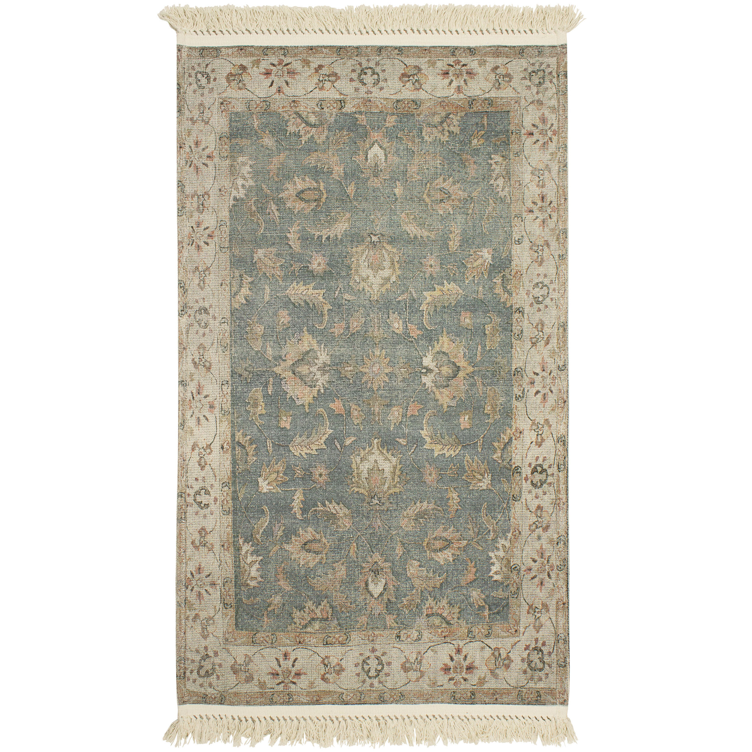 Lipinski Vegetable Dyed Cotton Brown Green Area Rug