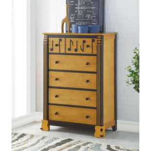 Rohrer Wooden 5 Drawer Chest by Zoomie Kids