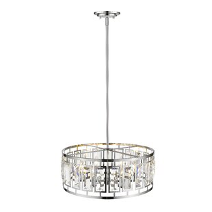 Everly Quinn Vella 6-Light LEDDrum Pendant