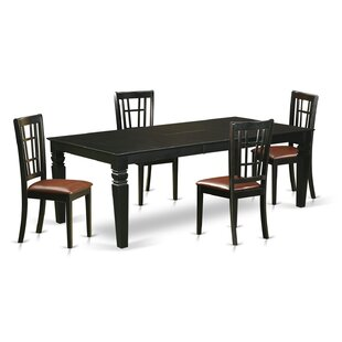 Beesley 5 Piece HardWood Dining Set DarHome Co