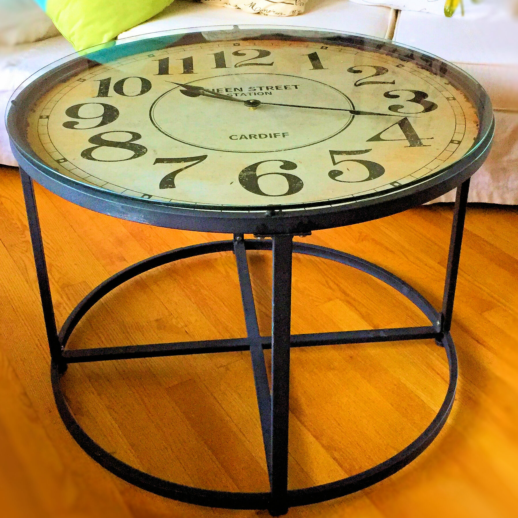 WholeHouseWorlds Clock End Table | Wayfair