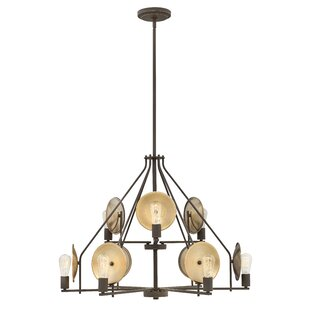 Anspach 9-Light Wagon Wheel Chandelier by..