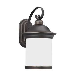 Price comparison Brettany 1-Light Outdoor Wall Lantern By Bloomsbury Market