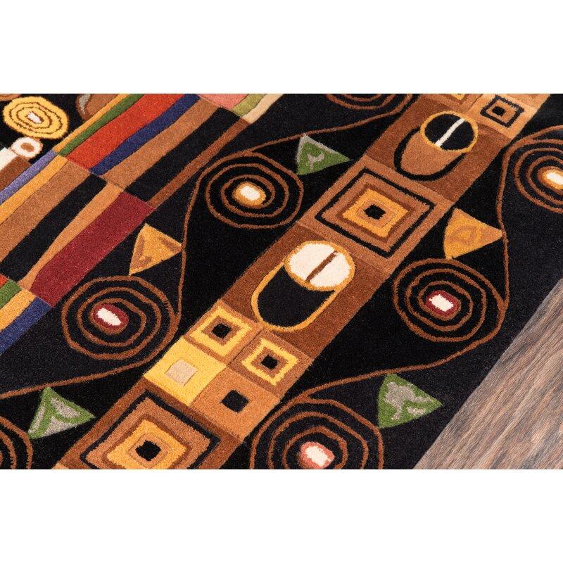 Latitude Run Eddie Hand Tufted Wool Black Area Rug Wayfair