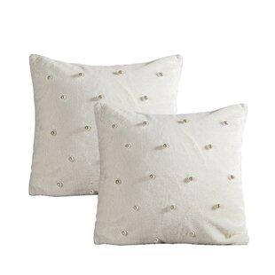 Carrizales Rabbit Faux Fur Throw Pillow (Set of 2)