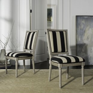 Rosemary French Brasserie Upholstered Dining Chair (Set Of 2) by One Allium Way Wonderful