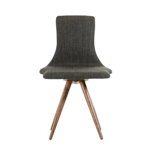 Zuri Linen Upholstered Side Chair in Gray Set of 2