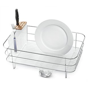 Slim Dish Rack in Brushed Stainless Steel by simplehuman