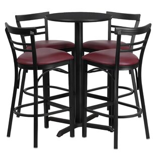 Kangwei 5 Piece Pub Table Set Red Barrel Studio