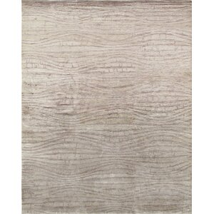 Modern Hand-Knotted Beige/Brown Area Rug