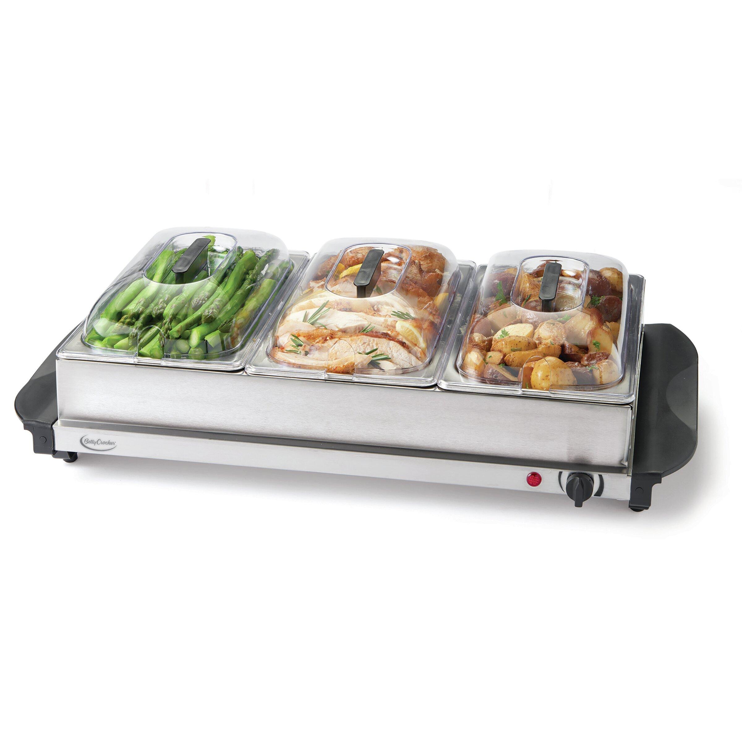 Betty Crocker Stainless Steel Buffet Server And Warming Tray 7 5 Qt Wayfair