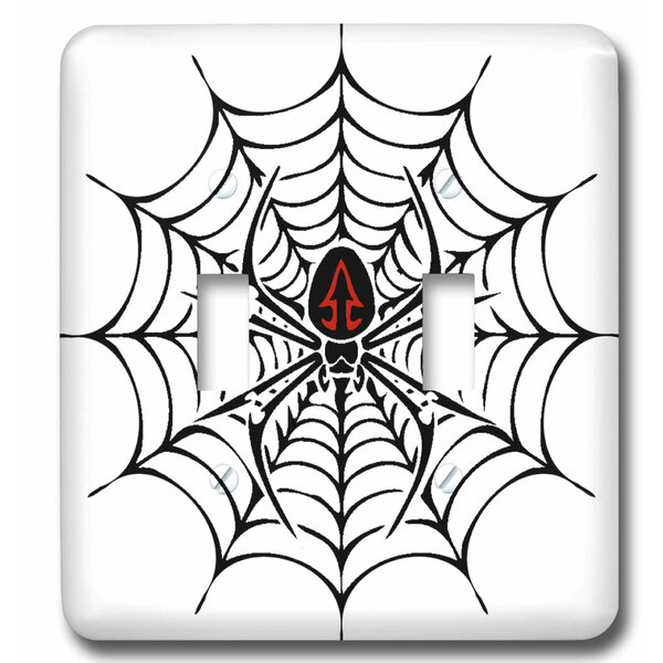 3drose Widow Spider In A Web 2 Gang Toggle Light Switch Wall Plate Wayfair