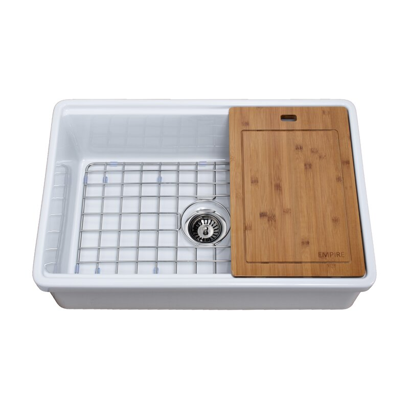 Empire Industries Tosca 30 L X 20 W Farmhouse Kitchen Sink With Cutting Board And Sink Grid Reviews Wayfair