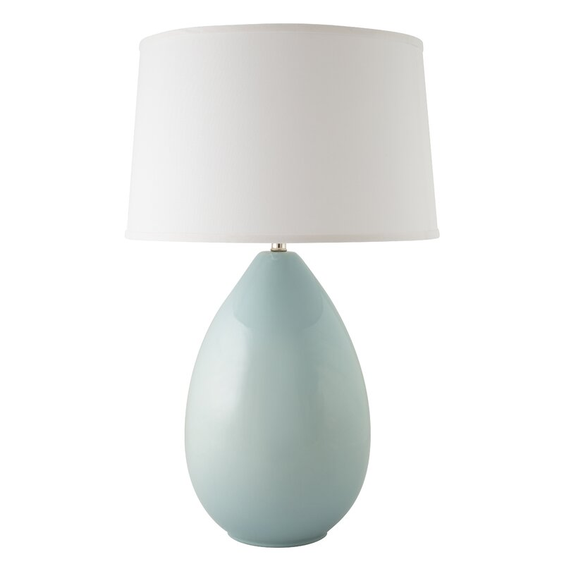 "Aqua or turquoise blue Ercole Egg 29"" Table Lamp. Come find Beachy Turquoise Decor Inspiration to float your boat! #turquoise #decorinspiration #beachyblue"