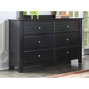 Nicole Wood 6 Drawer Double Dresser