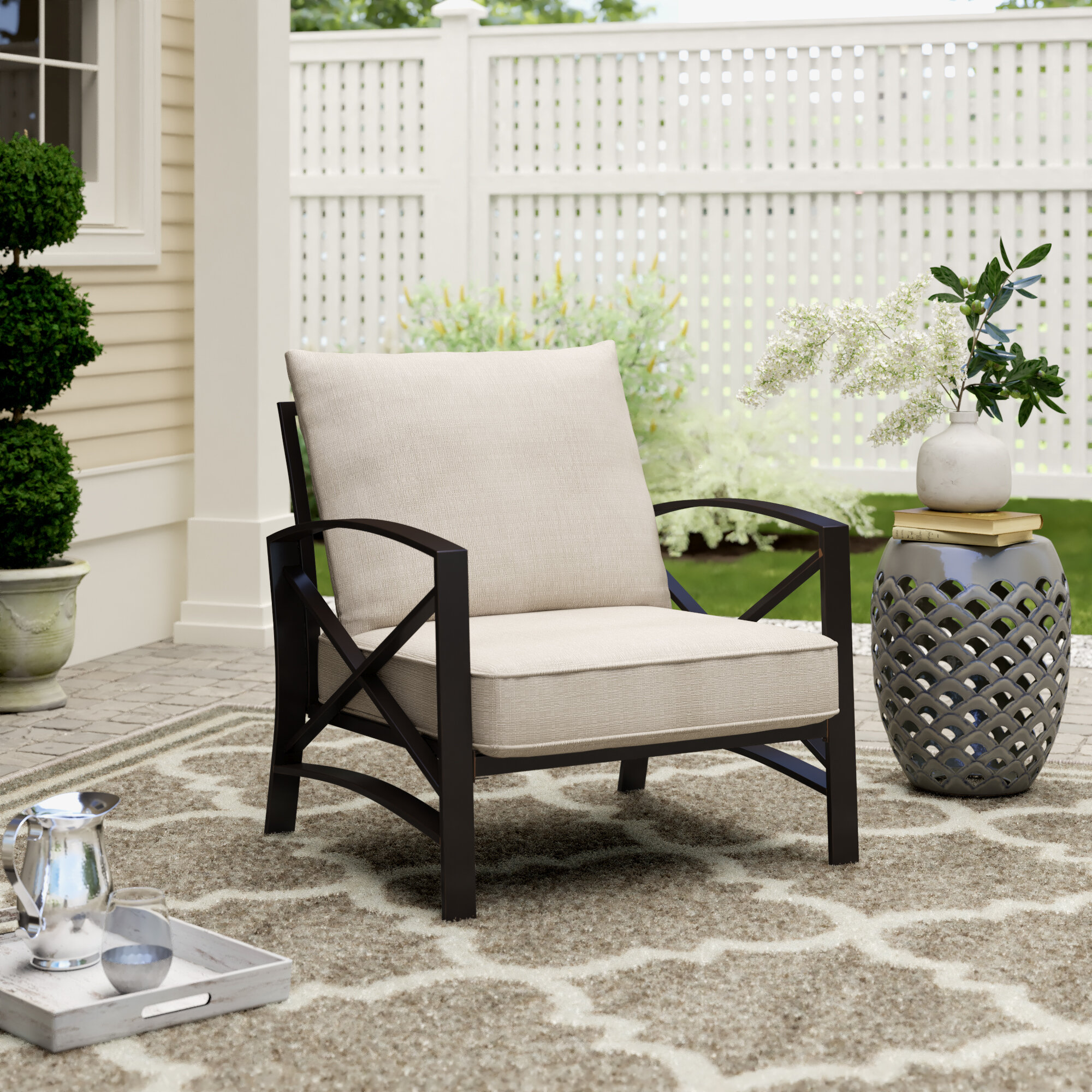 Laura Patio Chair With Cushions