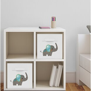 Inexpensive Elephant Fabric Storage Cube By Sweet Jojo Designs