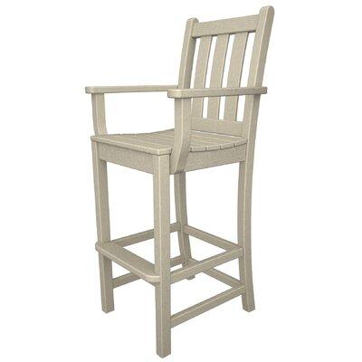 Magnificent Polywood Traditional 30 Inch Patio Bar Stool Frame Finish Sand Inzonedesignstudio Interior Chair Design Inzonedesignstudiocom