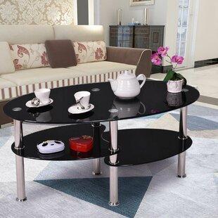 Orren Ellis Jaden Tempered Glass Coffee Table