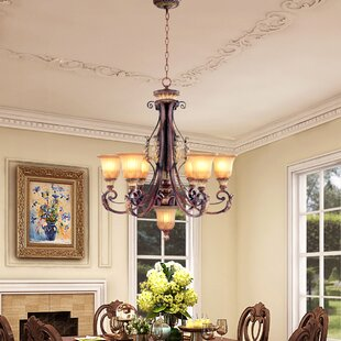 Astoria Grand Scottdale 7-Light Shaded Chandelier