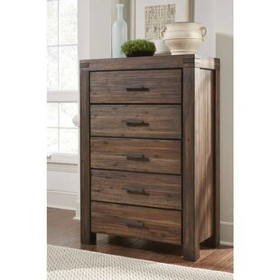 Parque Wooden 5 Drawer Chest