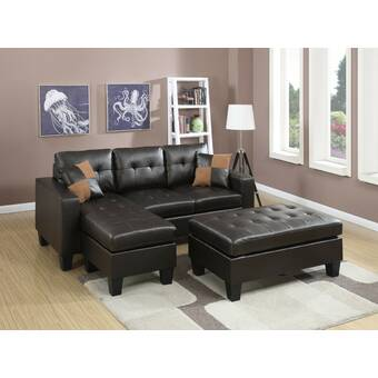 Astounding Latitude Run Baysview Reversible Sectional With Ottoman Onthecornerstone Fun Painted Chair Ideas Images Onthecornerstoneorg