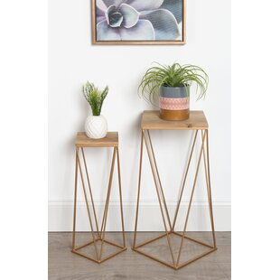 Bargain Lofland Metal Accent 2 Piece Nesting Tables By Mercury Row