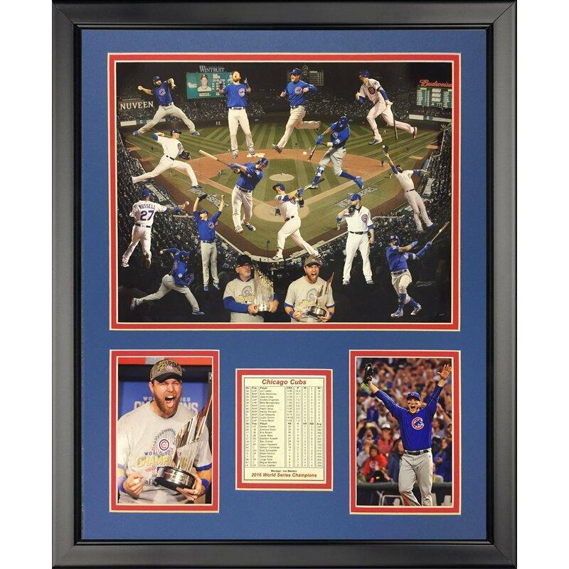 e0d08cf1b Legends Never Die '2016 World Series Champions Chicago Cubs Collage' Framed  Memorabilia | Wayfair